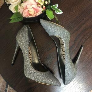 "Sam Edelman 8.5 Silver High 5"" Heel Shoes Pumps"